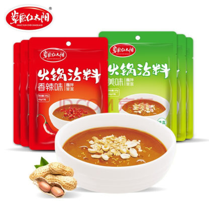 Купить в интернет магазине китайских продуктов Китайский арахисово - кунжутный соус для обмакивания (ОСТРЫЙ/НЕ ОСТРЫЙ) 120гр.6926718495324 6926718495317