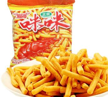 Айшанг палочки со вкусом креветки 爱尚 虾味条蟹味粒 18гр.