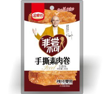 Вегетарианские мясные рулетики 手撕素肉卷五香味 26 гр.