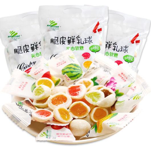 Молочно-фруктовые конфеты, мягкие нежные Haoliyuan Fresh Milky Balls 500гр. купить в Красноярске доставка по всей России
