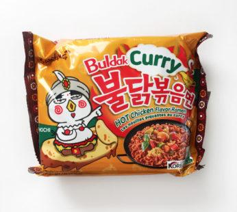 Лапша Buldak Curry Hot Chicken flavor острая с карри соусом,140гр.