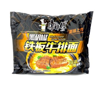 Лапша с черным перцем со вкусом жаренного стейка Kang shifu,200гр.