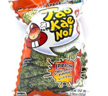 Чипсы из водорослей со вкусом соуса шрирача ТМ «TAO KAE NOI», 32гр